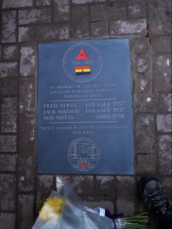 International Brigade Plaque (Leicester Market)