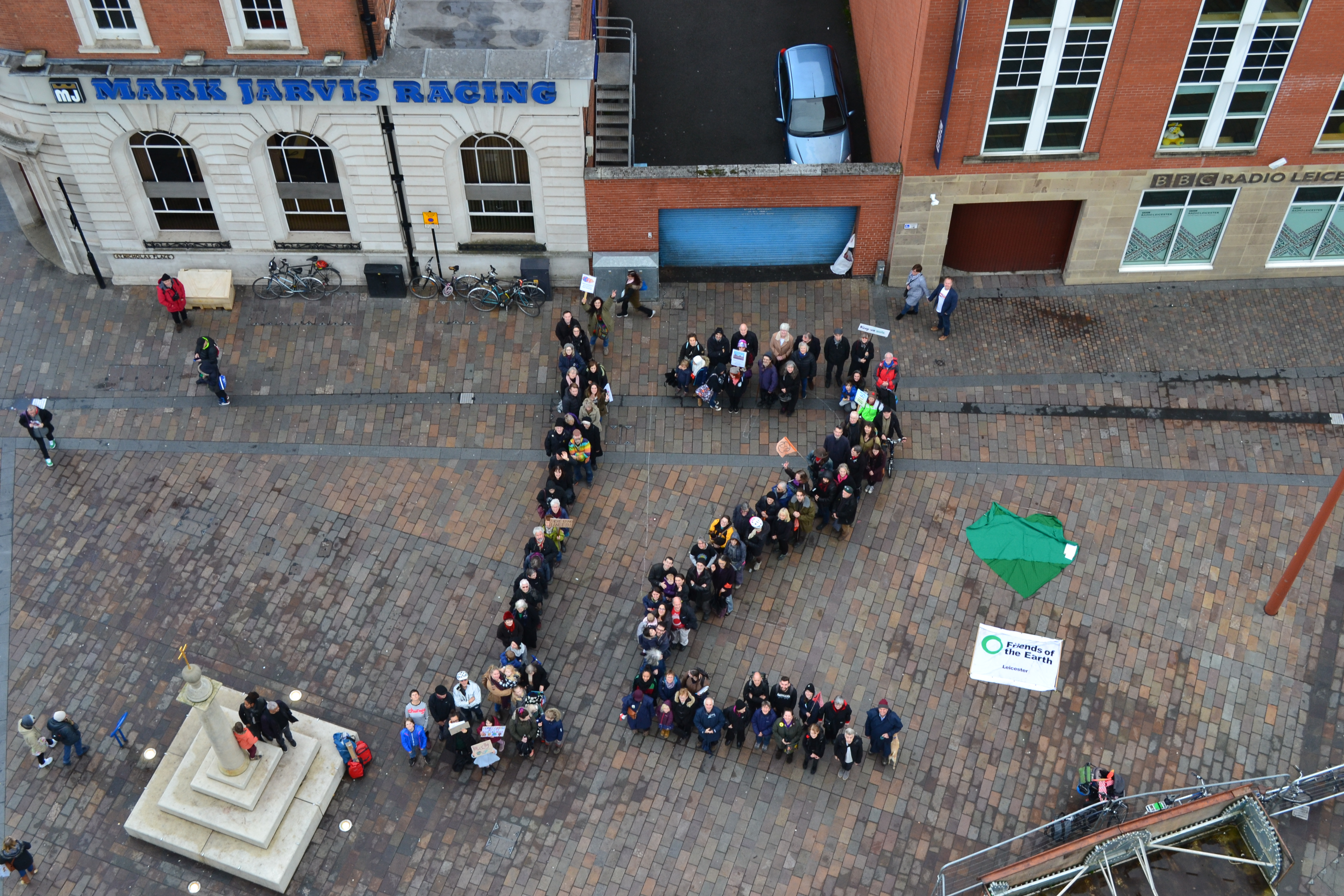 12 years protest - aerial photo